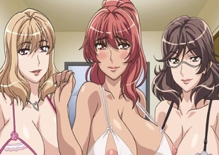 Three huge titted hentai babes