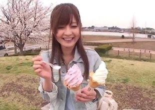 Sexy office hotty Rina Ishihara gives u a POV blowjob