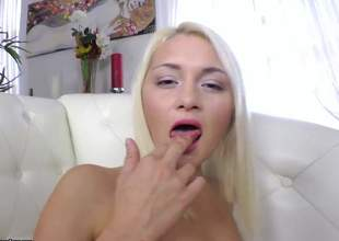 Yet some other one of 'em hot blondes and this babe unconditionally likes some anal pounding. For this blonde bibmbo, its the first time having anal so give her a round of cheering for encouragement