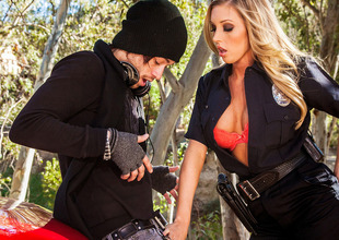 Samantha Saint In Breasty Cops, Scene 1