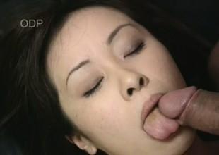 Beautiful Asian Mayu nearly gags on this throbbing lengthy dick